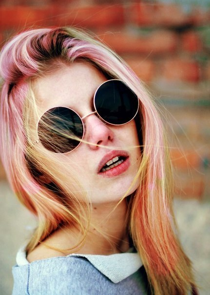 hair+sunglasses♥