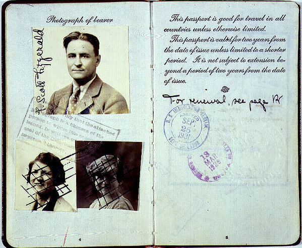 factoseintolerant:  The Fitzgeralds' passports