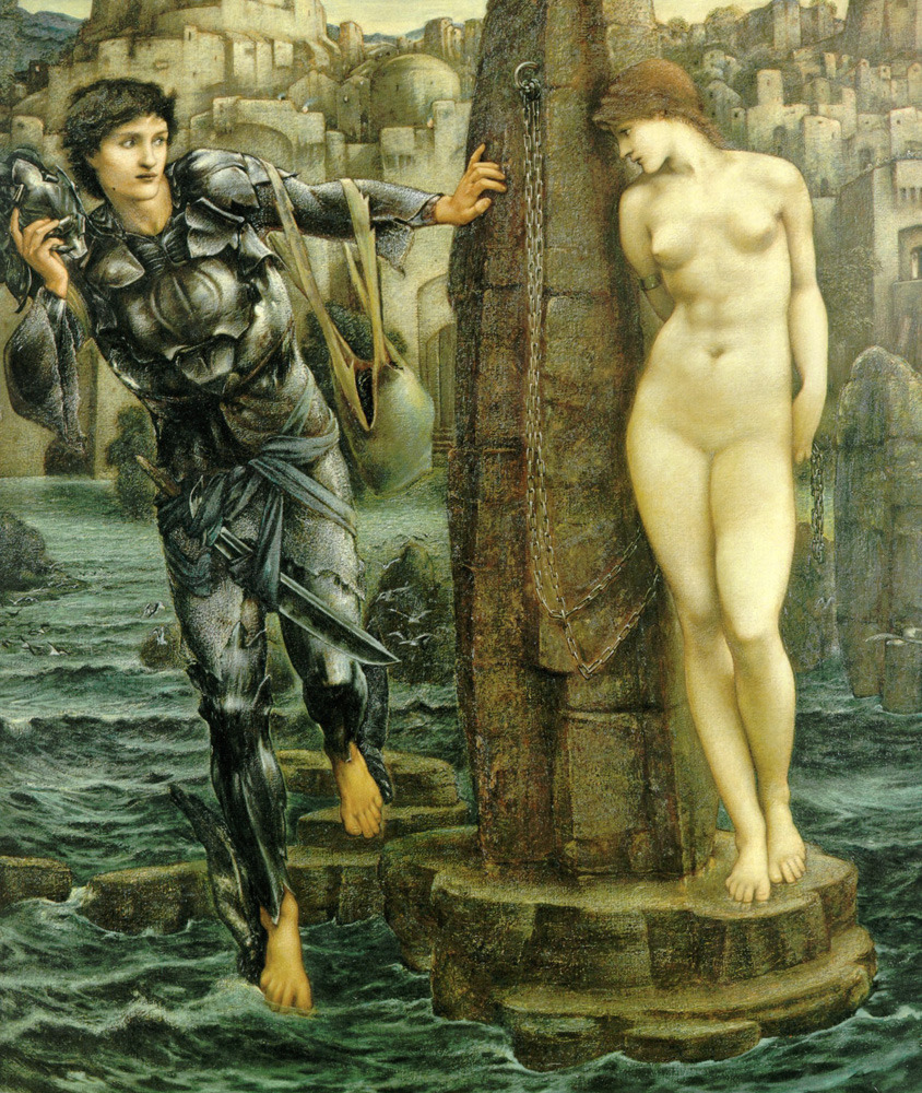 opus53:  Sir Edward Burne-Jones, The Rock of Doom, Oil on canvas, 1885