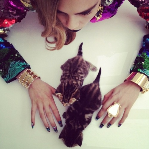 Cara Delevingne by Nick Knight: Pussycat, Pussycat from Fashionising.com