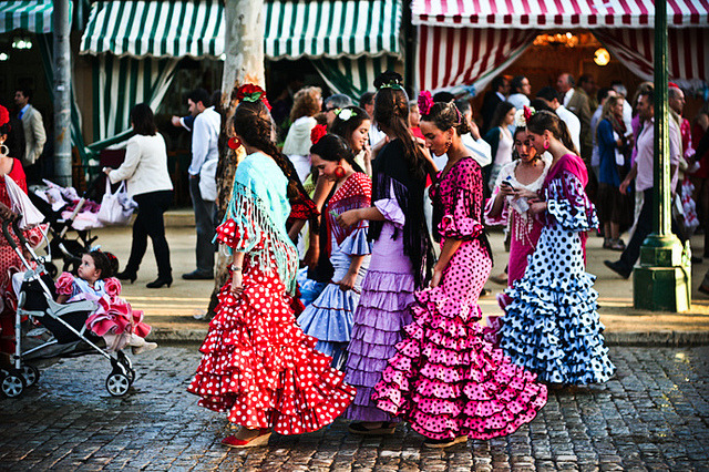golden-zephyr:  histrionicenlightenment:  Sevillian women, Spain  I will say again - Not all Gitana dance Flamenco and not all Flamenco dancers are Gitana. ( I use that word as I have been told they prefer it )