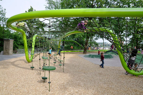 very innovative approach on designing a playground  landscapearchitecture:  (via German Studio Annabau Designs Award Winning Sculptural Playground)