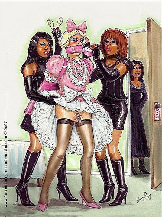 feminization:  Bound, gagged and feminized…