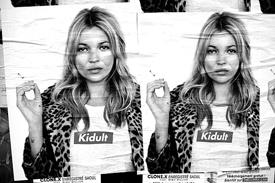 Dope…Kidult - Fake Supreme x Kate Moss Poster Campaign in Paris