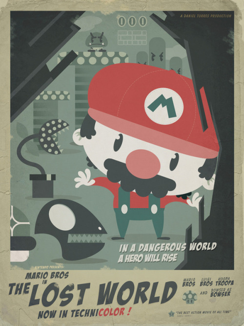 Mario Bros 4 - by Danvinci Prints available at Society6