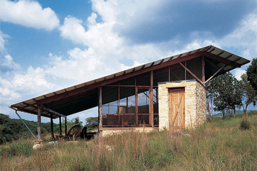 Hill Country Jacal, Lake Flato Architects Tx.