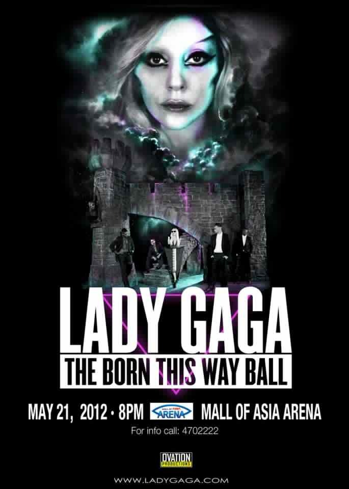 Lady Gaga, The Born This Way Ball Promo Poster
