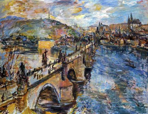 fckyeaharthistory:  Oskar Kokoschka - Charles Bridge, 1934. Oil on canvas