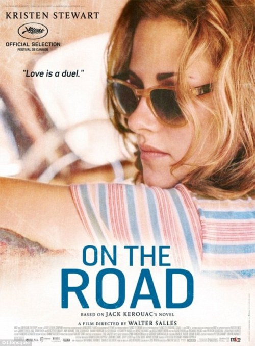 "Kristen Stewart in vintage sunglasses for ""On The Road"" movieposter."