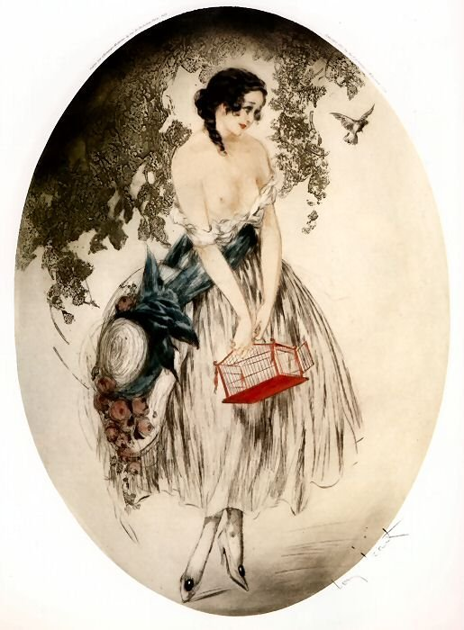 poboh:  Louis Icart. French Painter, Illustrator (1888 - 1950)  I want to work on painting like this. It's beautiful.