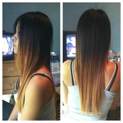 I retouched my sister's ombre. Not too shabby, HNin ;)