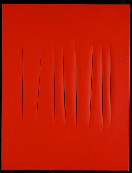 Lucio Fontana, Concetto Spaziale, Attese (1968) Feeling a bit like this today.