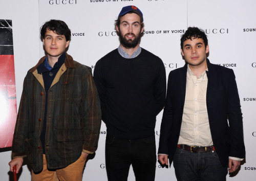 "Ezra Koenig, Chris Tomson and Rostam Batmanglij of the band Vampire Weekend attend the ""Sound Of My Voice"" premiere at Museum of Modern Art on April 22, 2012 in New York City."