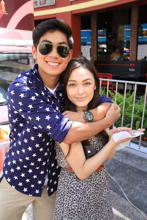 Photo taken during @sundayfundaytv5 shoot at Eastwood City :) @xtiansamson :) super kulit! :) hahaha love the shot though.