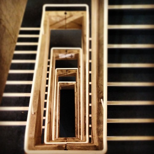 ed-pearce:  UEA library stairs - 22/4/2012 (Taken with instagram)