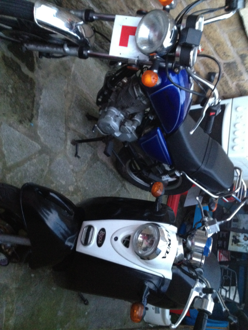 My scooter and my mates bike :D