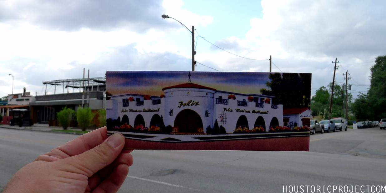 904 Westheimer.  Felix Mexican Restaurant. Closed in 2008, it had been around for 60 years. It has housed Uchi Sushi since February of this year.