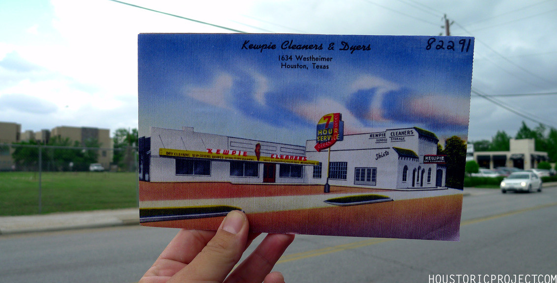 1634 Westheimer.  Kewpie Cleaners & Dyers. Currently an empty lot across from Poison Girl.