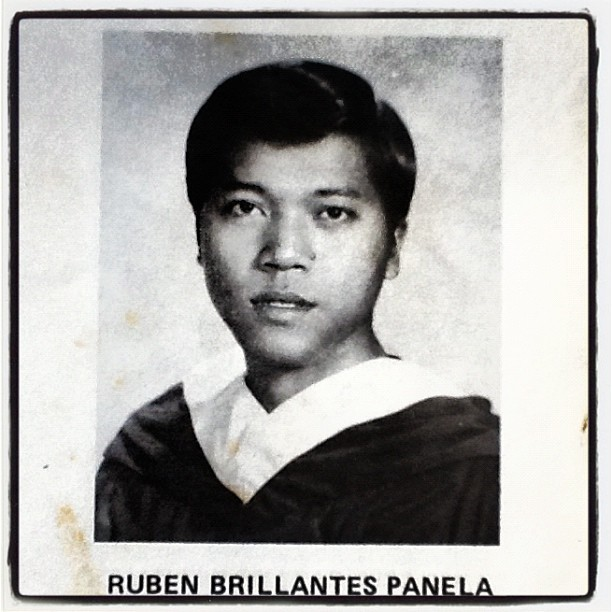 Pop, in his yearbook photo. #pogi #eonsago #yearbookphoto (Taken with instagram)
