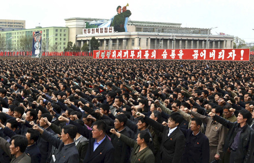"nationalpost:  North Korea's army vows to turn Seoul to ashesNorth Korea's military Monday threatened ""special actions"" soon to turn parts of the South Korean capital to ashes, accusing Seoul's conservative government of defaming its leadership.The North has for months been criticizing the South's President Lee Myung-Bak in extreme terms and threatening ""sacred war"" over perceived insults.""The special actions of our revolutionary armed forces will start soon to meet the reckless challenge of the group of traitors,"" said a statement on the official news agency. (Photo: KCNA/REUTERS)"