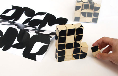 Modular letter construction in a cube :) Typecube by Chris Clarke http://www.dailyicon.net/2008/07/typecube—building-blocks-for-typographers/