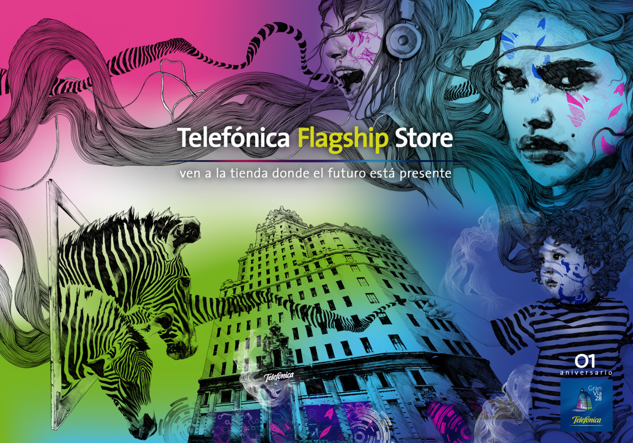 PROJECT/ FLAGSHIP STORE CLIENT/ TELEFONICA  AGENCY/ MOMENTUM WORLD WIDE . 2009