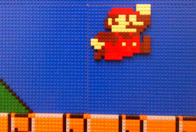 a LEGO-made level of Mario