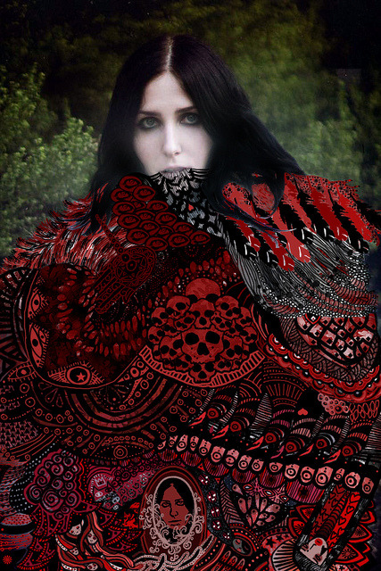 Chelsea Wolfe by hillel_018 on Flickr.Tramite Flickr: I'm very proud of this work. It was by long time i didn't draw with pen tablet. I love the colours & the effects that i can do with it. I want to thank to Chelsea Wolfe to inspired me with her music & Sargent House that given to me the push to do it. If you want to listen her music you can find here soundcloud.com/chelseawolfe