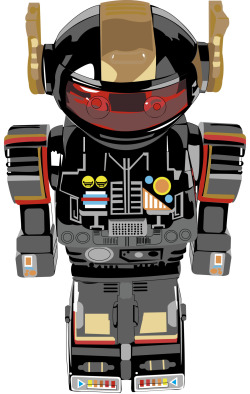 This is my robot that I created in illustrator based on a photo of a real toy robot.  It took me around 16 hours to complete. his name is Hermy :)