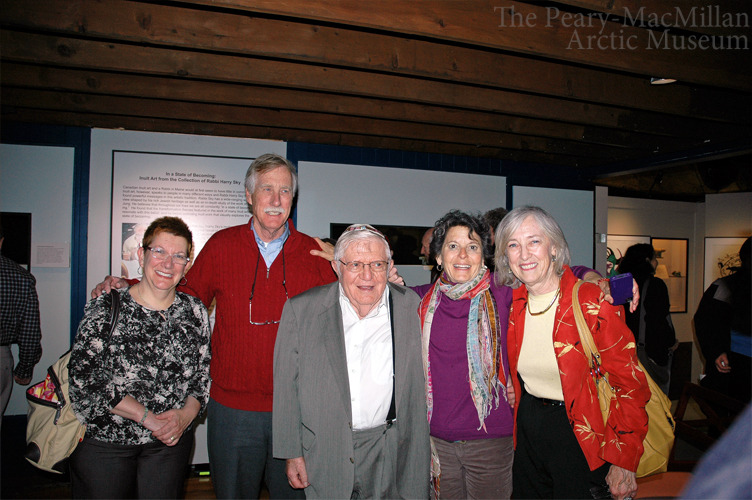 We had a great reception on Sunday at the Museum in honor of Rabbi Harry Sky! Rabbi Sky, pictured center, donated a large collection of Inuit art to the Museum, and he flew up for a special visit. Supporters from all over Maine turned out for this brunch - including independent senatorial candidate Angus King! (shown second from left) From L to R: Rina Wolfgang, King, Rabbi Sky, Mary Herman, and Rep. Mary P. Nelson. Learn more about the Sky exhibit at our website, or see a piece from the collection we posted here. And check out the Rabbi's blog!