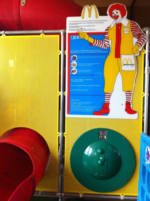 Sorry Normals, Ronald McDonald says you must be 7 feet tall to enter the Playplace.