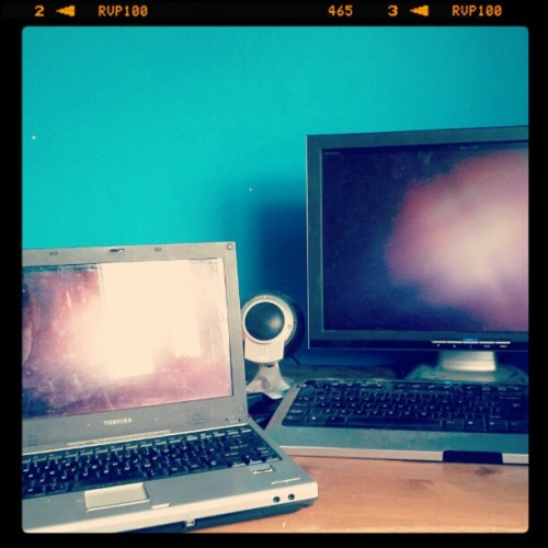 #Ubuntu on two rather old PCs (Taken with instagram)