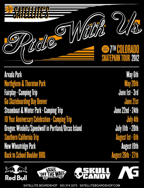 New RIDE WITH US 2012 Poster design.