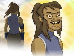 colester8:  Korra from the Legend of Korra without makeup!!! Hahahaha   Oh my lord do you guys remember this? Back when we didn't know what Korra's face looked like xD