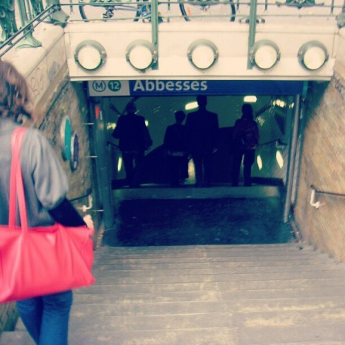#Metro n12 #abbesses A cote de #montmartes #paris #france (Taken with instagram)