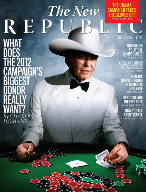 Check out TNR's newest issue, featuring Charles Homans on the 2012 campaign's biggest donor, Noam Scheiber on how Barack Obama became Bill Clinton, Alec MacGillis on the future of labor's relationship with the Democratic Party, and the editors on the moral dimension of the health care ruling. Read TNR's Books and Arts section for Stanley Kauffmann on films and see excellent pieces by David Hajdu on Adele, Paul Starr on compromise, and Leon Wieseltier on the necessity of both defending and criticizing Israel. The issue also features poems by Rowan Ricardo Phillips and the late Wislawa Szymborska.  Check out tnr.com for access to this content and much more! Be sure to follow us on Facebook and Twitter, too.