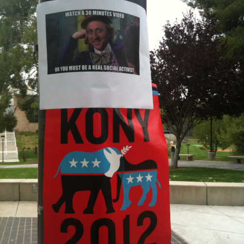 I was walking to class and saw these posters. I thought that they were funny…