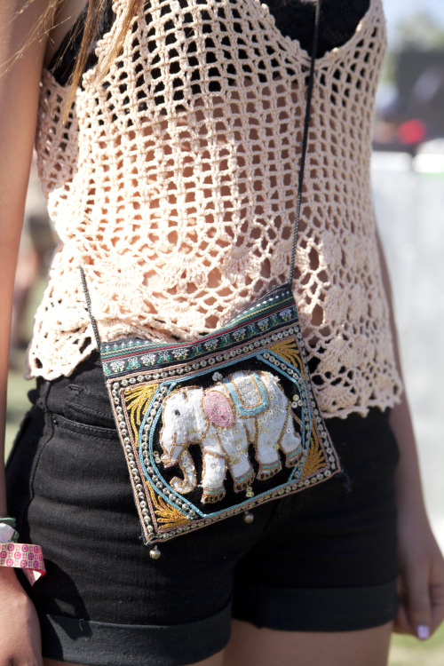 topshop:  A cross-body bag is a festival lifesaver - especially when teamed with crochet at Coachella.