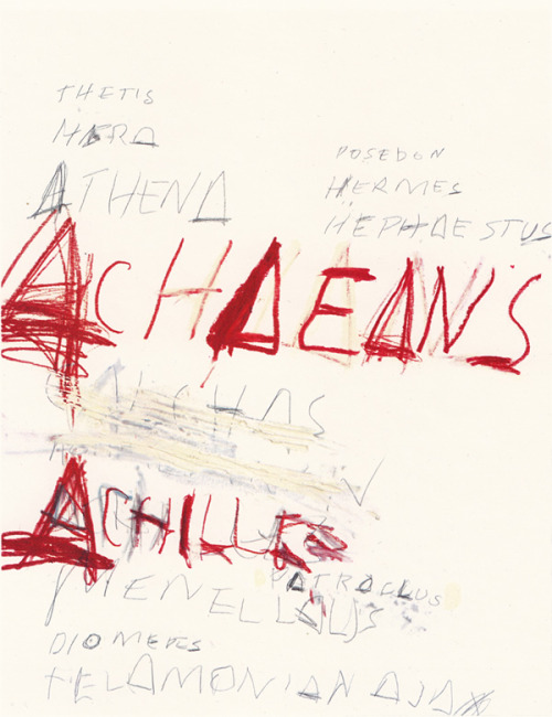 artspotting:  Cy Twombly, Fifty Days at Illiam: Heroies of the Achaeans, 1978