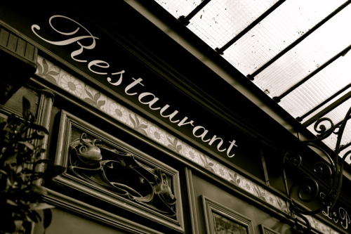 """Typography: Restaurant"", Paris Saint-Germain-Des-Prés, February 2012"