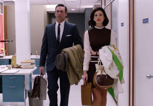 The Style Report: Mad Men Episode 5 Post-Fight Don: Looking sharp as shit in his slick tailored suit and a subtly striped tie, you'd barely know a woman just brought this show's alpha male to his knees.