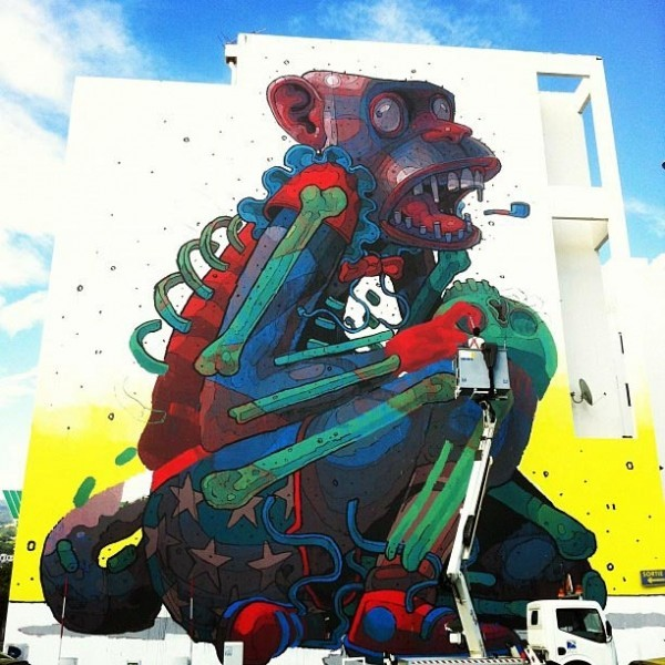 Aryz new mural in Saint Denis.