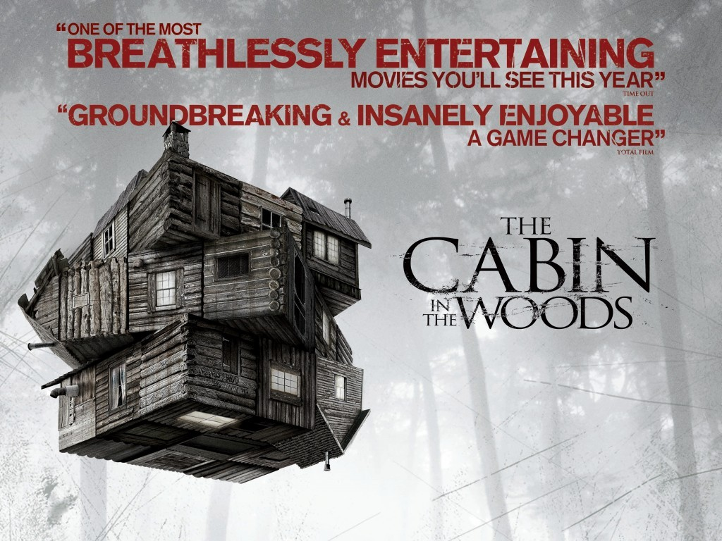 "The Cabin In The Woods (2012) - Directed By Drew Goddard - Rating: 4/5 Hard to believe this movie was shot all the way back in 2009, and has been sitting on the shelf until it's release last week. Distribution disputes with MGM over the last few years finally led the rights being sold to Lions Gate. But now it's here, and I think it's definitely worth the wait. ""The Cabin In The Woods"" is really better for the audience to not know too much about its premise going in. The creators did such a great job of playing on the classic horror film tropes, but also adding a few new twists. I was surprised to see how much of this movie really isn't so much of a horror film, but really an examination of the genre itself. It touches on the elements of why we as the audience want to see such blood and gore in the first place, universally across all cultures and customs. Quite literally almost every imaginable monster, and evil creature we've ever dreamt of comes to life in this movie. The main characters are really well written with funny and likable attributes (with maybe the exception of the stoner character, but I eventually warmed up to him). What I liked a lot about Cabin In The Woods was its ability to bring the audience along to explore the elements of horror films, but it stopped short of being too self aware like Scream or even becoming literal spoof of the genre. What makes this movie so good is the third act, when unexpectedly all hell breaks loose. Drew Goddard and Joss Whedon probably could have used a higher budget to really make the CGI creatures stand out, but overall it's very well written and well crafted. //post by scott Tweet"