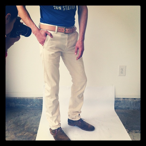 Shooting the new RKs for the website! @ryanplett #RK #natural #selvedge #conemills #spring #summer #denim #rogueterritory  (Taken with Instagram at Rogue Territory Workshop)