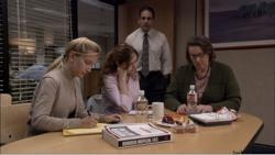 Me today at work. I'm Angela. Karla is Pam. Kate is Phyllis because I'm mean to her.  This is actually a better picture of the party planning committee since it's mostly just me and Karla. We're calling our Dundees the Yettis.