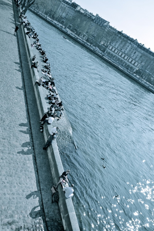 """Seine parallèle"", Paris, April 2012 Sébastien A. Photography"