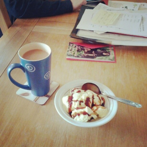 Tea and Ice Cream :) (Taken with instagram)