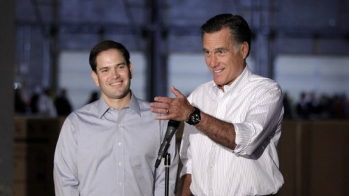 Photo of the Day: Romney & Rubio  PHOTO: AP Photo/Jae C. Hong
