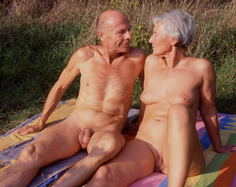 Vintage mature nudists group