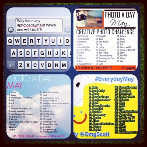 #photoadaymay #maycreative #everydaymay Which one will I do?!?! #decisions #decisions #decisions Fun with daily photos!!! (Taken with instagram)
